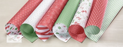 Be Merry Designer Series Paper by Stampin' Up!