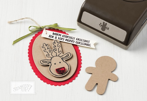 Cookie Cutter Christmas stamp set and coordinating punch by Stampin Up