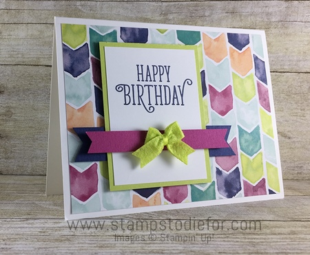 Happy Birthday Oh So Eclectic by Stampin' Up! Happy Birthday Gorgeous stamp set www.stampstodiefor.com