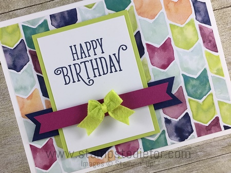 Happy Birthday Oh So Eclectic by Stampin' Up! Happy Birthday Gorgeous stamp set www.stampstodiefor.com 2