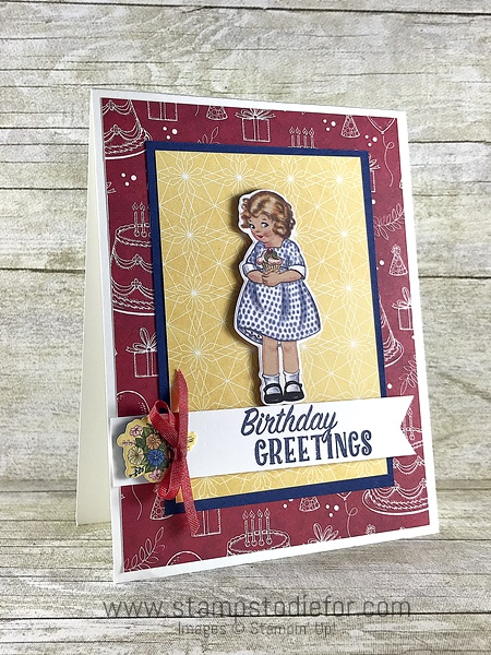 Birthday Memories Suite - Birthday Friends Paper by Stampin' Up!  girl