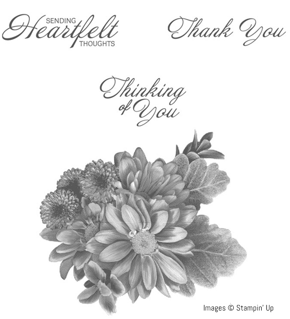 Heartfelt Blooms Sale-a-bration stamp set Free