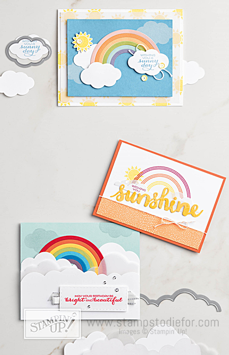 Sunshine & Rainbows stamp set and Rainbow Builder Framelit Dies by Stampin' Up! www.stampstodiefor.com 2