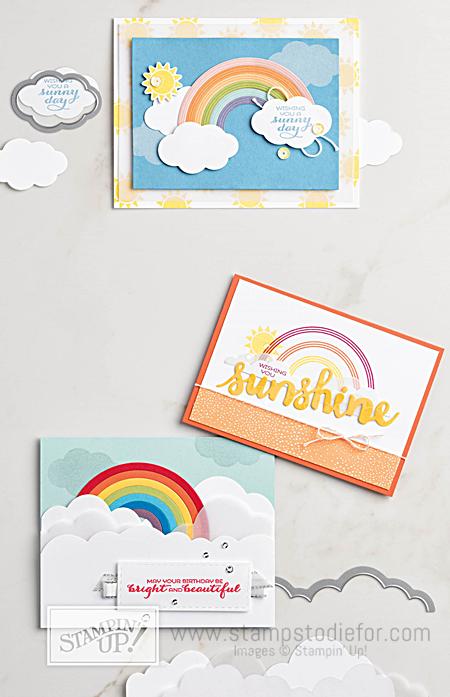 Sunshine & Rainbows stamp set and Rainbow Builder Framelit Dies by Stampin' Up! www.stampstodiefor.com 2