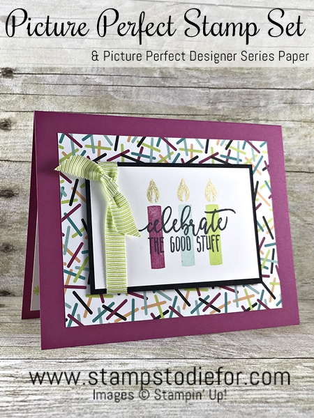 SS027 handstamped birthday card using Picture Perfect Birthday stamp set by Stampin Up 123
