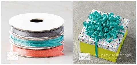 Shimmer Ribbon from Stampin' Up free item during saleabrations