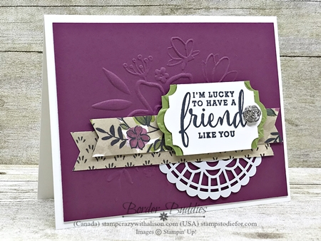 Card made using Share what you love suite by Stampin Up