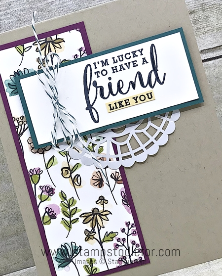 Sunday Sketches SS032 Love What You Do stamp set by Stampin Up  Friend card  card Sketch 2