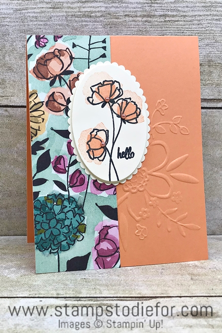 One Sheet Wonder Hello Card - paper piece H - Love What You Do Suite by Stampin Up 23