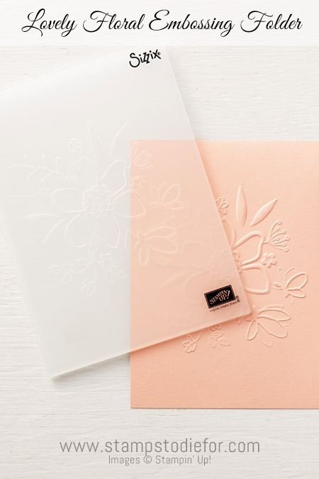 Lovely Floral Dynamic Textured Impressions Folder by Stampin' Up!