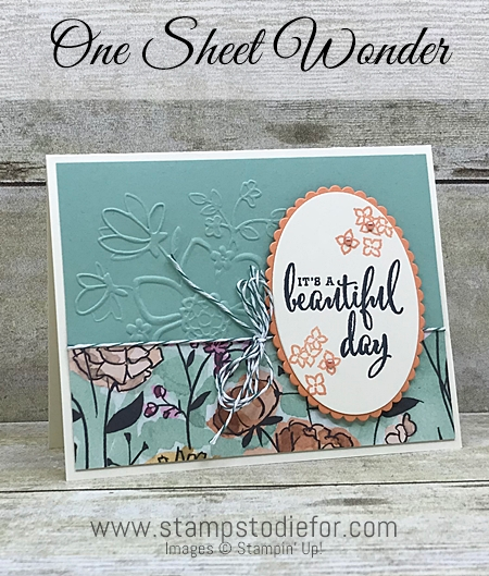 One Sheet Wonder Beautiful Day Card Share What You Love by Stampin Up