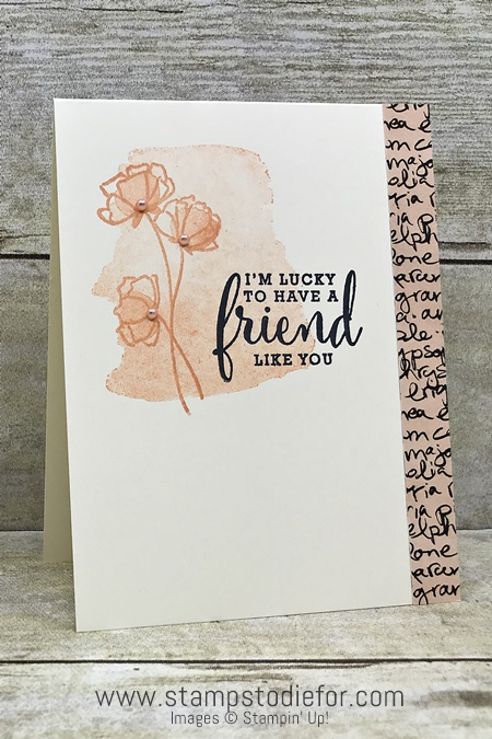 One Sheet Wonder I'm Lucky to have a friend like you Card - paper piece  I - Love What You Do Suite by Stampin Up 12