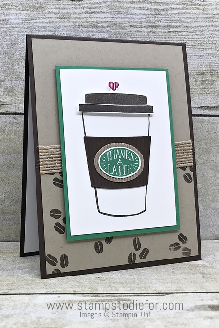 Sunday Sketches SS034 Card Sketch using Coffee Cafe stamp set and Coffee Cup Framelits by Stampin Up www.stampstodiefor.com