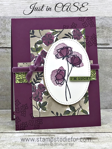 Just in CASE Card - Love What you do stamp set by Stampin Up