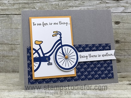 Sunday Sketches SS045 card sketch or template using Bike Ride stamp set and framelits by Stampin' Up! www.stampstodiefor.com