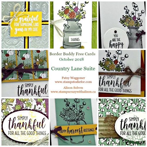 October 2018 Country Lane Suite Collage