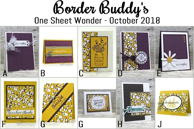 Country Lane One Sheet Wonder Border Buddy's October 2018