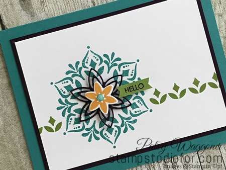 Happiness Surrounds Stamp Set & Snowflake Trinket Dies by Stampin' Up! Hello tilt www.stampstodiefor.com