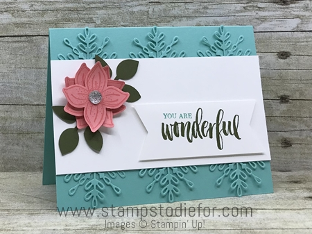 Just in CASE card using Pop of Petals Stamp Set and Punch and Swirly Snowflakes Thinlits Dies by Stampin Up www.stampstodiefor.com
