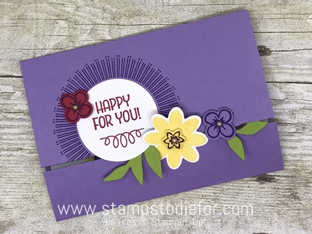 Bouquet Blooms Stamp Set and Gatefuld Blossoms Framelits Dies by Stampin' Up! www.stampstodiefor.com
