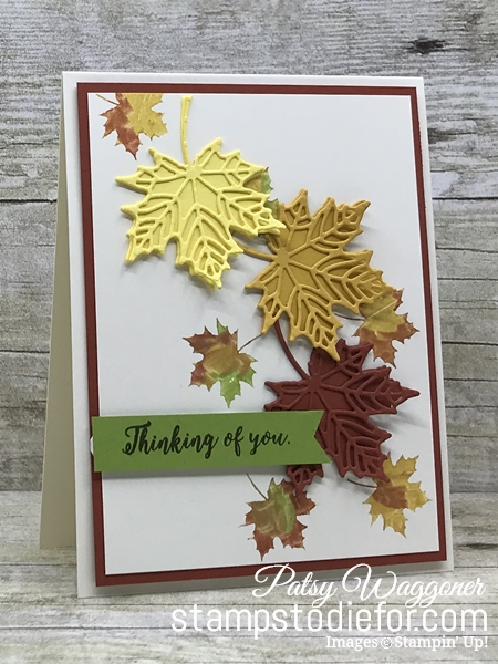 Color Without Borders - Colorful Seasons Stamp Set - Falling Leaves - Seasonal Layers Dies - Stampin' Up! www.stampstodiefor.com