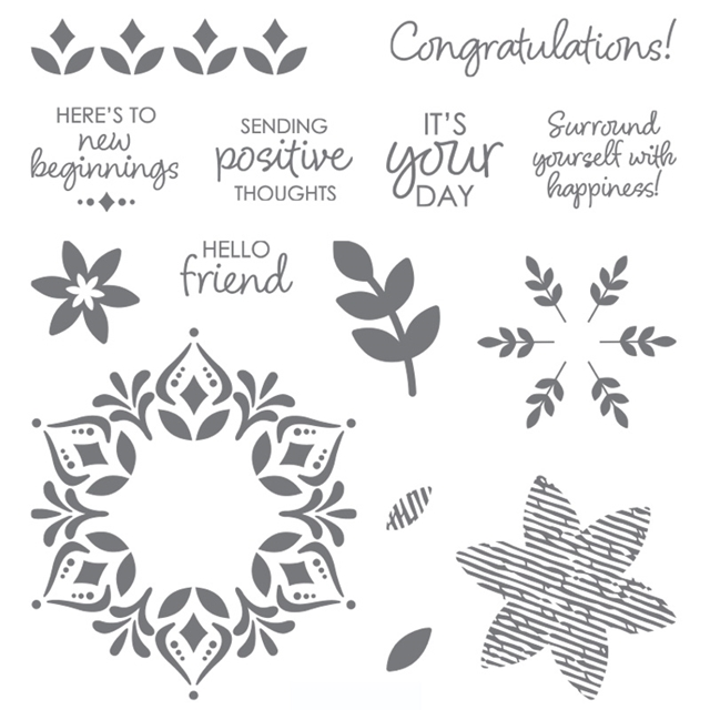 Happiness Surrounds stamp set by Stampin Up