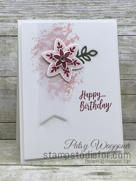 Happiness Surrounds Stamp Set & Snowflake Trinket Dies by Stampin' Up! Happy Birthday Flowers and Lace www.stampstodiefor.com