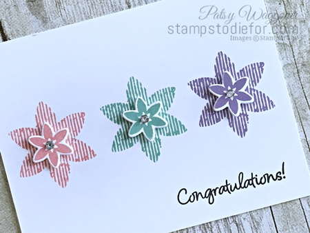 Happiness Surrounds Stamp Set & Snowflake Trinket Dies by Stampin' Up! Flowers in a Row tilt www.stampstodiefor.com