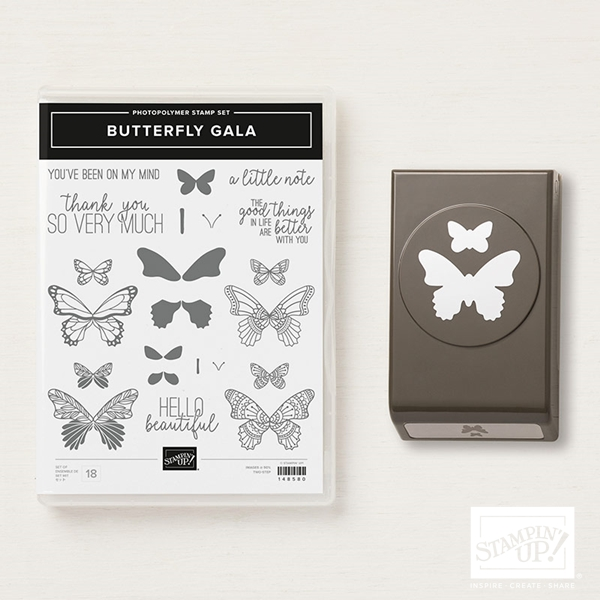 Butterfly Gala Stamp Set & Butterfly Duet Punch Bundle