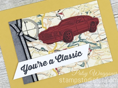 Card created using piece E One Sheet Wonder Classic Gear Designer Paper by Stampin' Up! #loveitchopit #simplestamping slant
