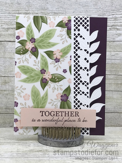Card stamped using Sunday Sketches SS026 and the Floral Romance Suite of Products #stampinup #SS026 #cardsketch (2)