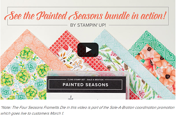 Painted Seasons Bundle Video created by Stampin Up