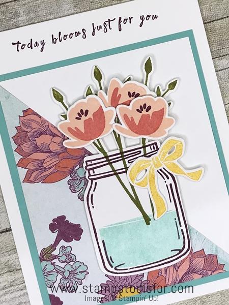 One Sheet Wonder G piece 12 x 12 Tea Room Designer Paper by Stampin' Up! www.stampstodiefor.com slant