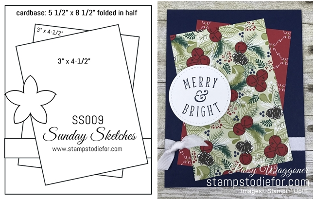 Sunday Sketches SS009 Another Wonderful Year stamp set  Under the Mistletoe Designer Paper by Stampin' Up! www.stampstodiefor.com tile 3