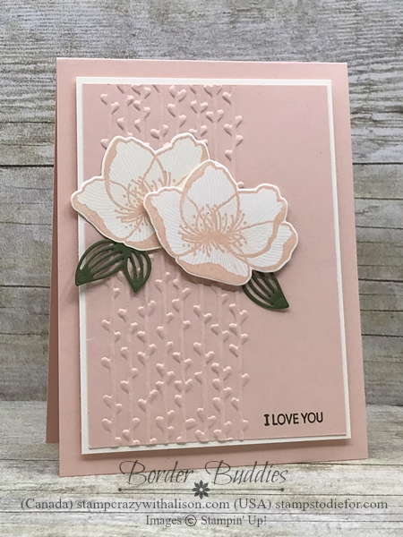 Border Buddy's Free PDF Tutorial Petal Promenade Suite by Stampin' Up! Card 1