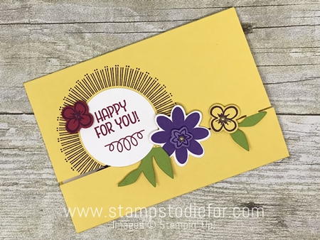 Bouquet Blooms Stamp Set and Gatefuld Blossoms Framelits Dies by Stampin' Up! www.stampstodiefor.com yellow