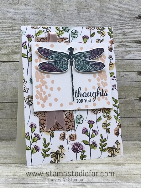 Just in CASE card using Dragon Fly Dreams stamp set & Detailed Dragonfly Thinlits Dies by Stampin Up www.stampstodiefor.com