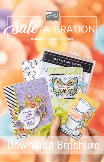 Saleabration (SAB) brochure 2019 stampin up