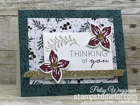 Just in CASE Pop of Petals stamp set and Joyous Noel Paper by Stampin Up www.stampstodiefor.com