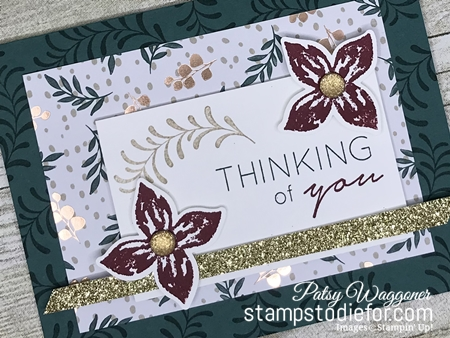 Just in CASE Pop of Petals stamp set and Joyous Noel Paper by Stampin Up www.stampstodiefor.com tipped