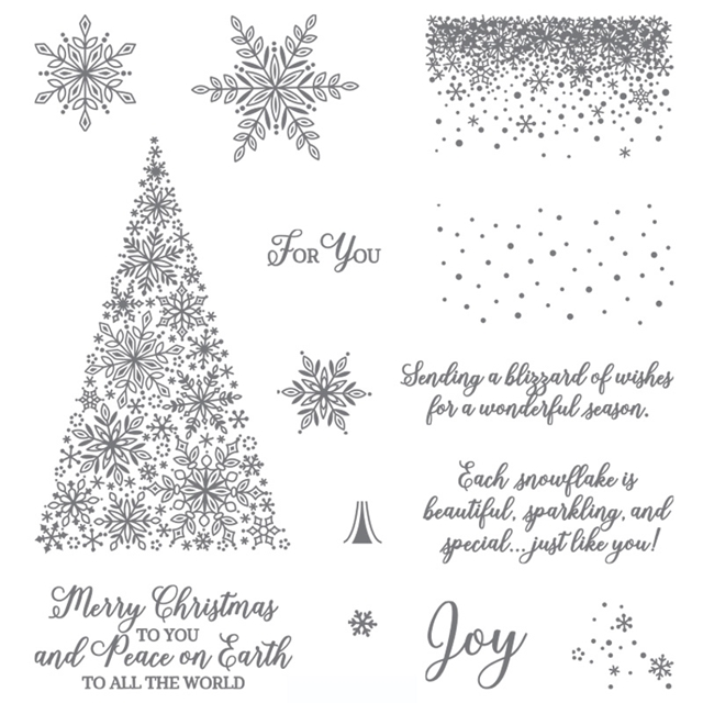 Snow is Glistening stamp set by Stampin Up