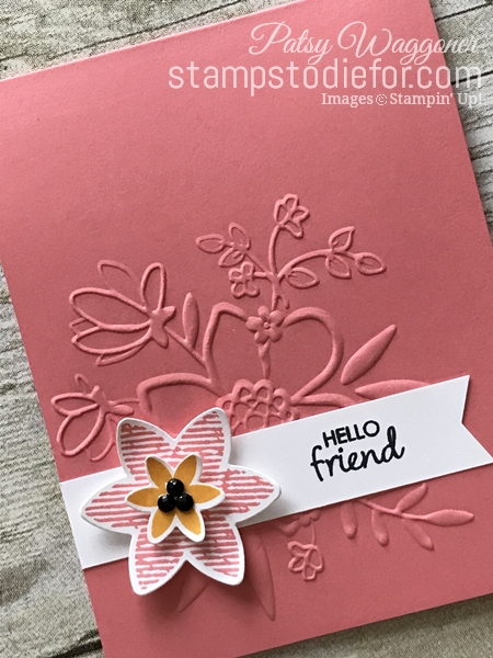Happiness Surrounds Stamp Set & Snowflake Trinket Dies by Stampin' Up! Hello Friend tilt www.stampstodiefor.com