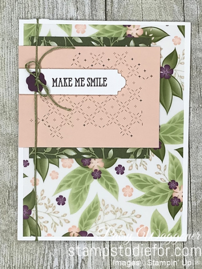 Card CASE using sample on page 38 of the 2019 Occasions Catalog #stampinup #CASE