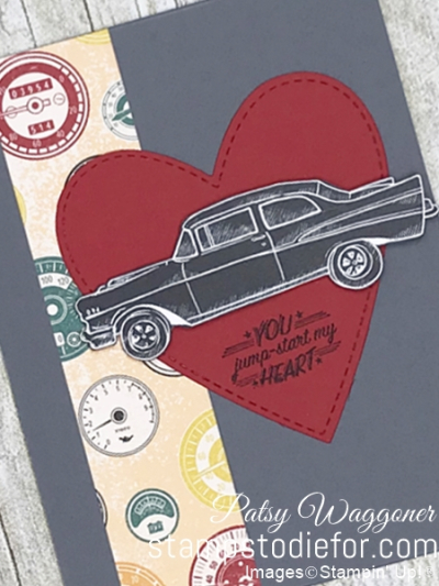 Card created using piece D One Sheet Wonder Classic Gear Designer Paper by Stampin' Up!  #loveitchopit #simplestamping slant
