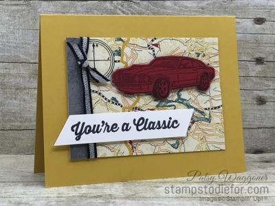 Card created using piece E One Sheet Wonder Classic Gear Designer Paper by Stampin' Up! #loveitchopit #simplestamping slant (2)