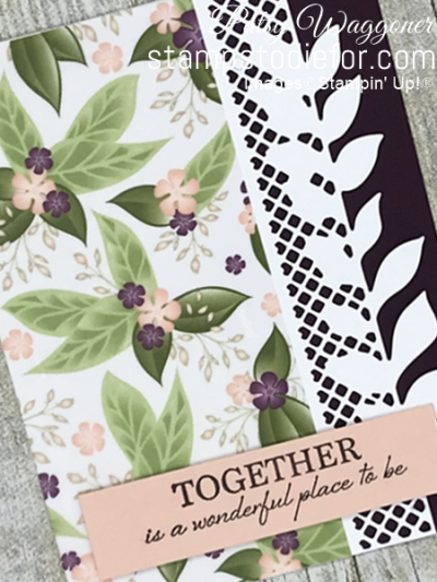 Card stamped using Sunday Sketches SS026 and the Floral Romance Suite of Products #stampinup #SS026 #cardsketch 2