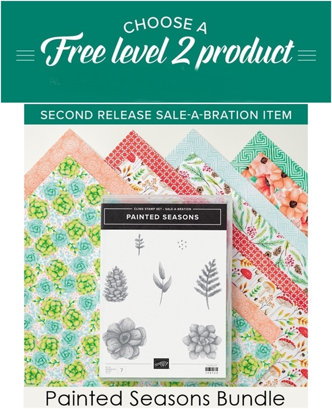 Painted Seasons Bundle Free Item during Sale-a-brations by Stampin Up vert