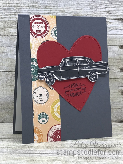 Card created using piece D One Sheet Wonder Classic Gear Designer Paper by Stampin' Up!  #loveitchopit #simplestamping slant (2)