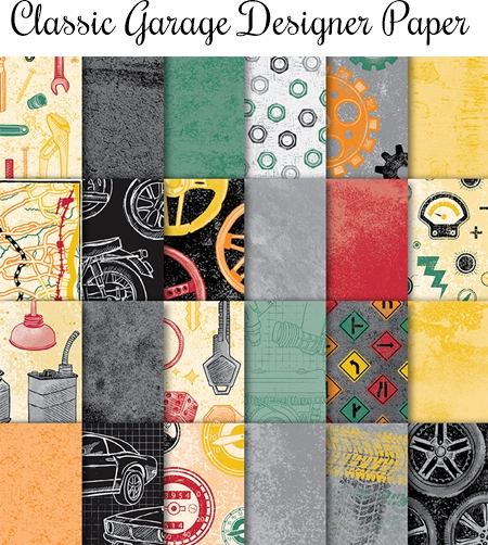 Classic Garage Designer Series Paper by Stampin Up