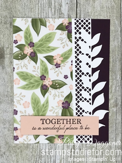 Card stamped using Sunday Sketches SS026 and the Floral Romance Suite of Products #stampinup #SS026 #cardsketch